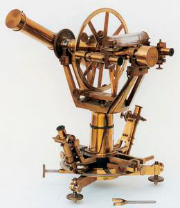 Theodolite,known as Repsold's Little Universal Theodolite, Military Institute of Geography, Florence.