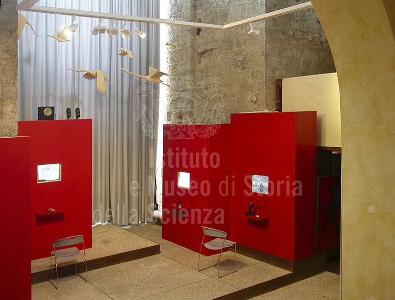 "Room with  multimedia posts in the Museo Virtuale ""Oltre i confini"", Grosseto."