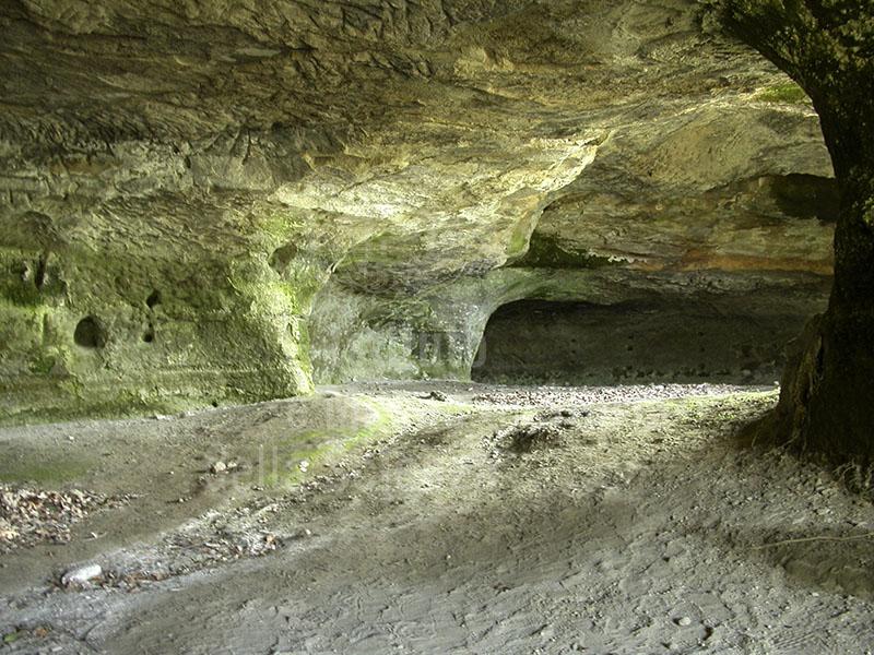 Grotto in the medieval rupesrtrian village of  Vitozza, Sorano.