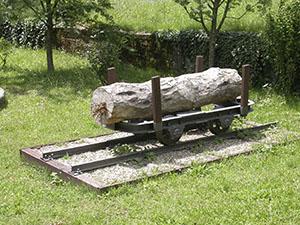 "Trolley for transporting timber, Museo Forestale ""Carlo Siemoni"", Badia a Prataglia, Poppi."