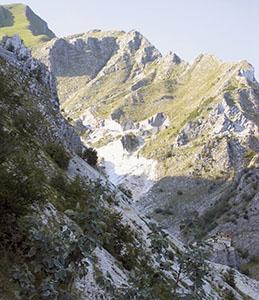 Colonnata Field marble quarries, Carrara.