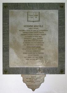 Iscrizione celebrativa di Minutolo, Biblioteca Statale, Lucca.