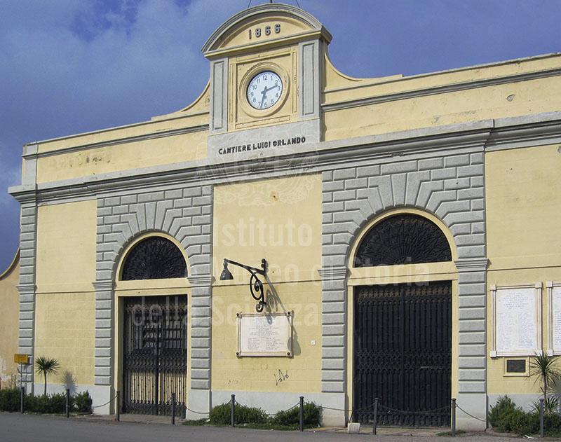 Ingresso del Cantiere Navale Fratelli Orlando, Livorno.
