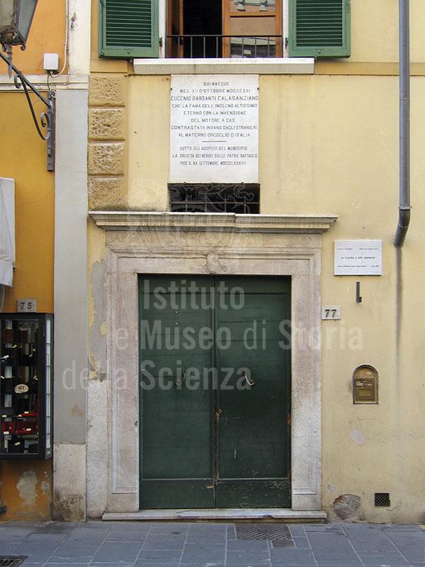 Birthplace of Eugenio Barsanti, Pietrasanta.
