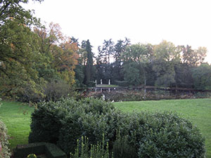 Fish-pond in the garden of Villa Reale di Marlia, Capannori.