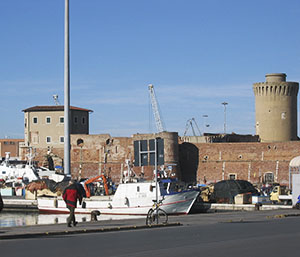 The Medici Port and Old Fortress, Livorno.