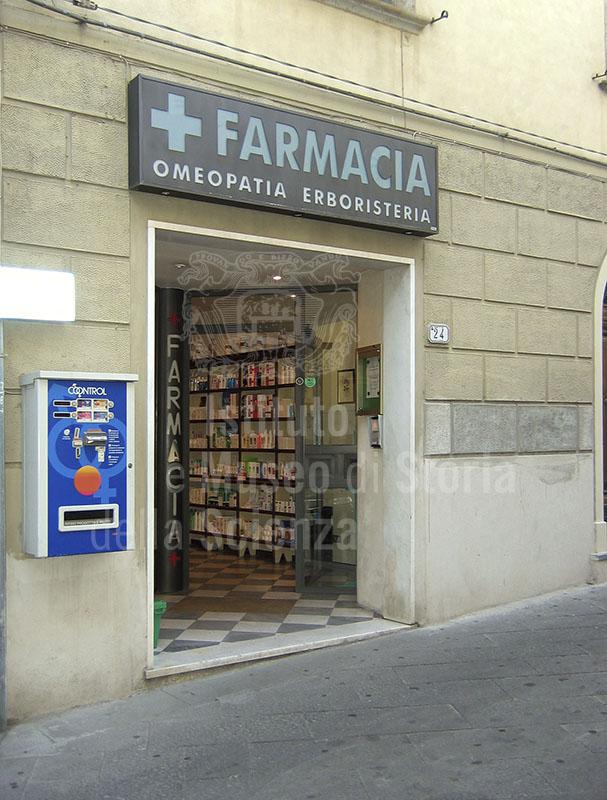 Exterior of the Farmacia Bernardini, Buti.