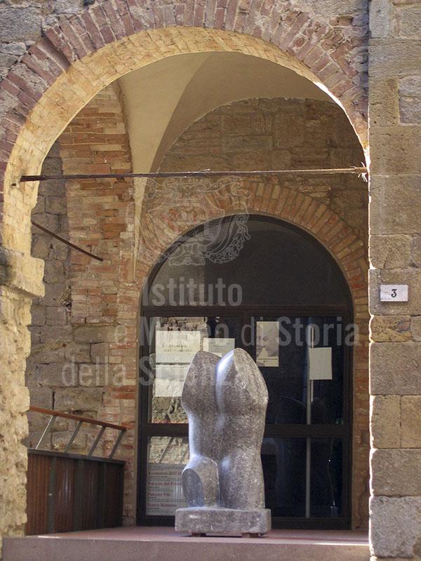 Ingresso dell'Ecomuseo dell'Alabastro - Punto Museale di Volterra.
