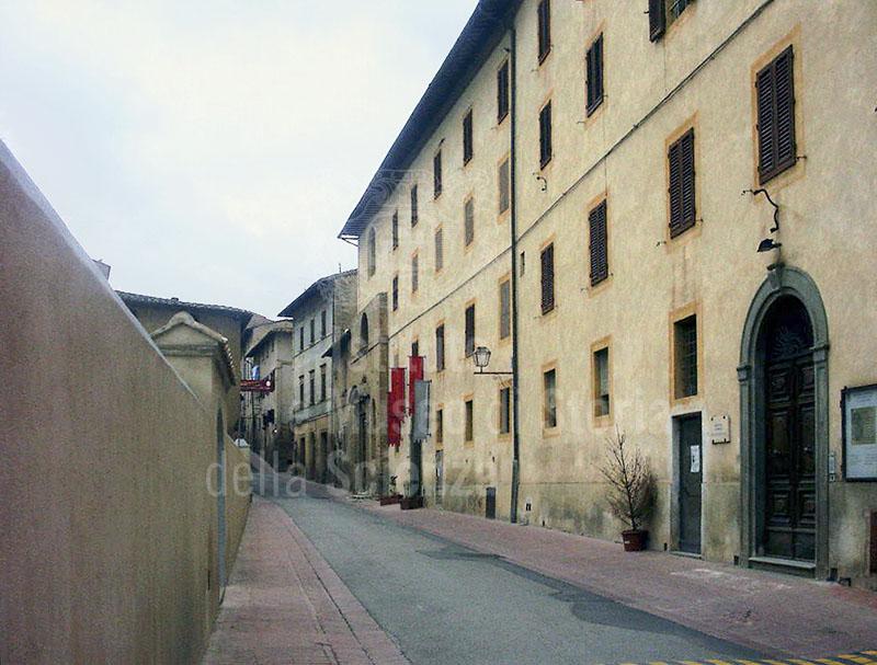 Exterior of the Hospital of Santa Fina, San Gimignano, in which is the Pharmacy of Santa Fina, San Gimignano.