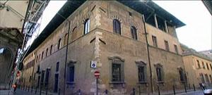 Esterno del Palazzo Datini, sede dell'Archivio di Stato di Prato.
