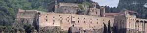 Veduta frontale del Castello Malaspina, Massa.