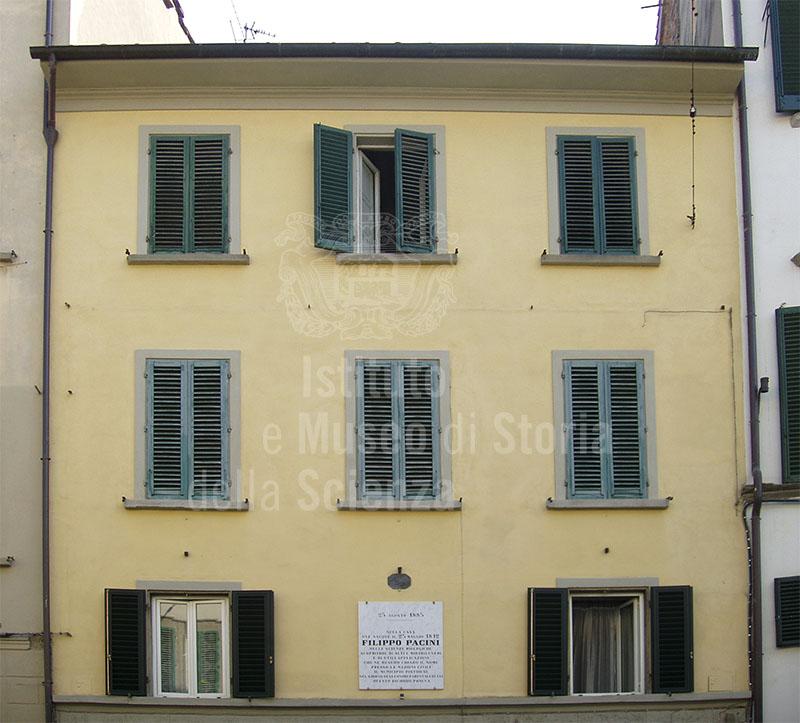 Casa natale di Filippo Pacini, Pistoia.