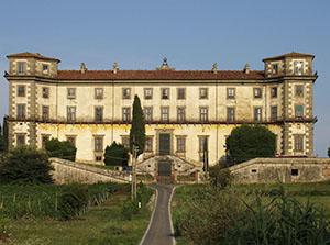 Rear facade of Villa Bellavista, Buggiano.