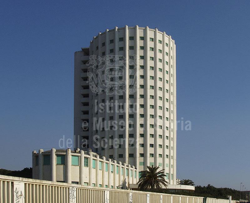 "View of the base of the Tower, Colonia Marina ""Edoardo Agnelli"" (Torre FIAT), Marina di Massa."