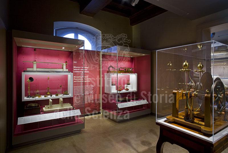Sala XVI - Misurare i fenomeni naturali, Museo Galileo, Firenze.