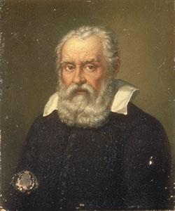 Ritratto di Galileo Galilei. Dipinto attribuito a Domenico Passignano.