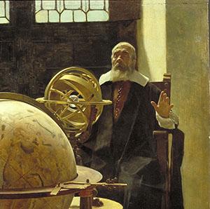 Galileo Galilei cieco. Dettaglio del dipinto che lo raffigura con Vincenzo Viviani. Olio su tavola di Tito Lessi, 1892 (Istituto e Museo di Storia della Scienza, Firenze).
