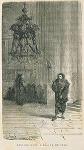 Galileo Galilei osserva la lampada nel duomo di Pisa, sec. XIX (Domus Galilaeana, Pisa, Misc. Favaro, XIX, 3).