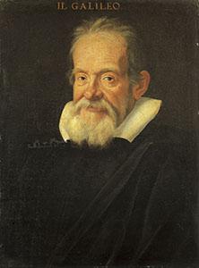 Ritratto di Galileo Galilei. Olio su tela attribuito a Charles Mellin, 1639.