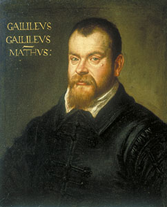 Portrait of Galileo Galilei. Oil on canvas by Domenico Tintoretto, 1605-1606.