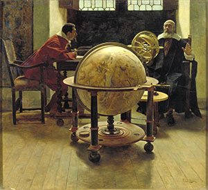 Galileo Galilei visited by Vincenzo Viviani. Oil on canvas by Tito Lessi, 1892  (Istituto e Museo di Storia della Scienza, Firenze)