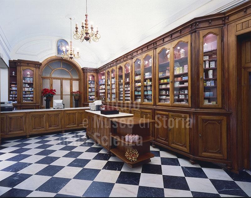 Interior of the Pharmacy Galeffi, Montevarchi.