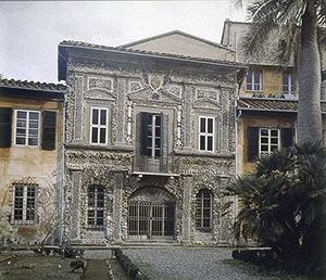 Old facade of the Botanical Garden of the University of Pisa.