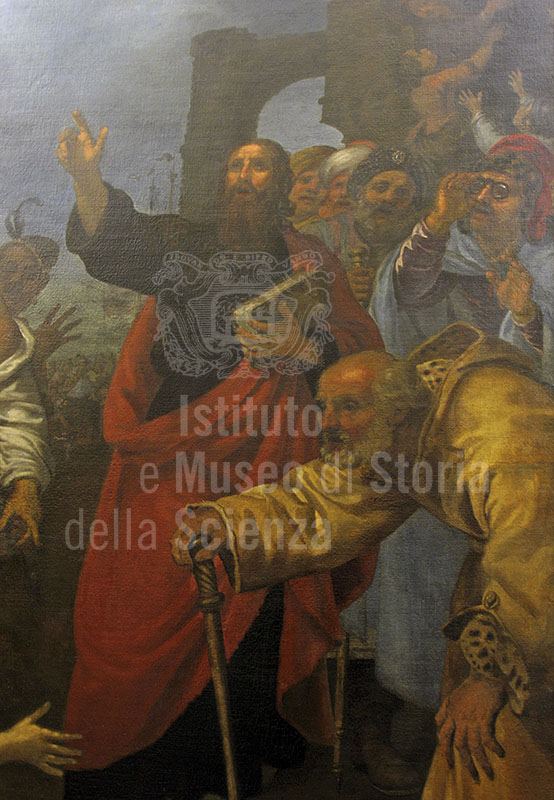 """Oil on canvas by Giovanni Bilivert representing the """"Miracle of St. Paul"""" (1644), formerly in the Serragli Chapel of the Basilica di San Marco and now displayed in the Museo di San Marco, Florence."""
