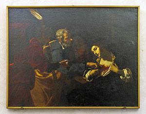 """Jacopo Vignali, """"St. Peter cures St. Agatha"""" (1623), previously kept in the Spezieria di San Marco, today displayed at the Museo di San Marco, Florence."""