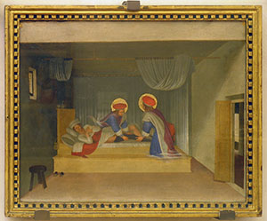 """Fra Angelico, """"Recovery of Deacon Justinian"""", panel in the predella of the San Marco Altarpiece, Museo di San Marco, Florence."""
