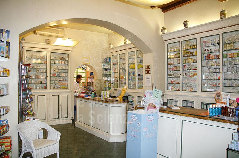Farmacia dei Serragli a Firenze: interno.