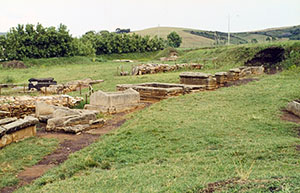 Etruscan necropolis at Baratti, Archaeological Park of Baratti and Populonia.
