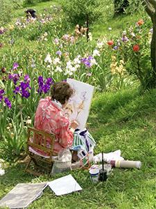 Il Giardino dell'Iris durante la mostra dei giaggioli che partecipao al concorso indetto annualmente, Firenze.