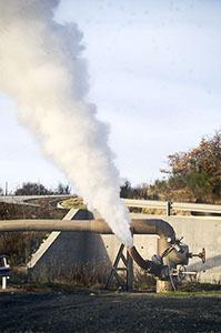 Jet of steam, Larderello.