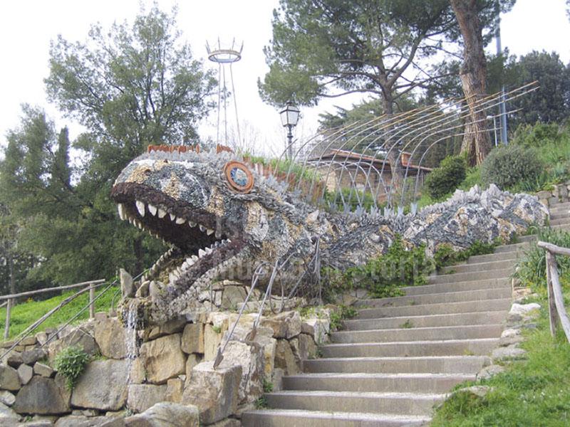 Immagine il dragone statua fontana degli orti del parnaso - Giardino dell orticoltura firenze ...