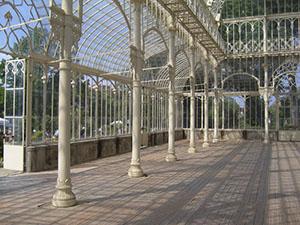 L'interno del tepidario del Giardino dell'Orticoltura, Firenze