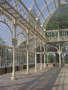 Interior of the tepidarium in the Horticultural Garden, Florence.