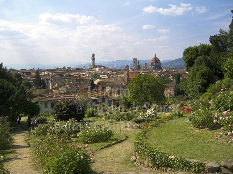 Immagine panorama di firenze dal giardino delle rose - Giardino delle rose firenze ...