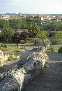 Veduta di Firenze dal Giardino degli Orti del Parnaso.