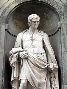 Statua di Nicola Pisano, Loggiato degli Uffizi, Firenze.