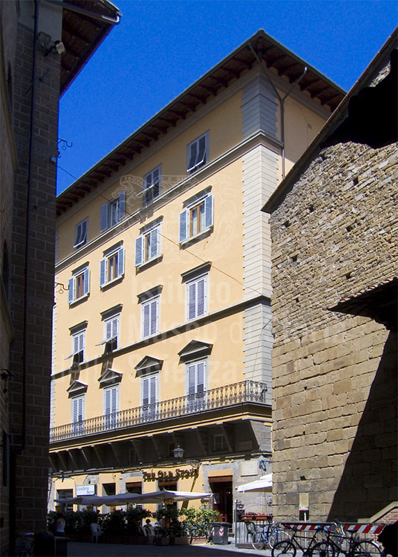 Ancient seat of the  Accademia della Crusca in Via Pellicceria, Florence.