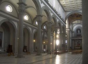 Interno della Basilica di San Lorenzo, Firenze.