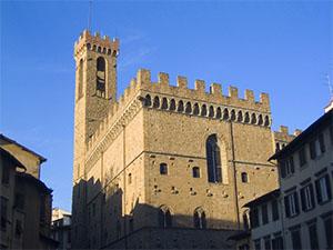 La torre e i merli del Bargello, Firenze.