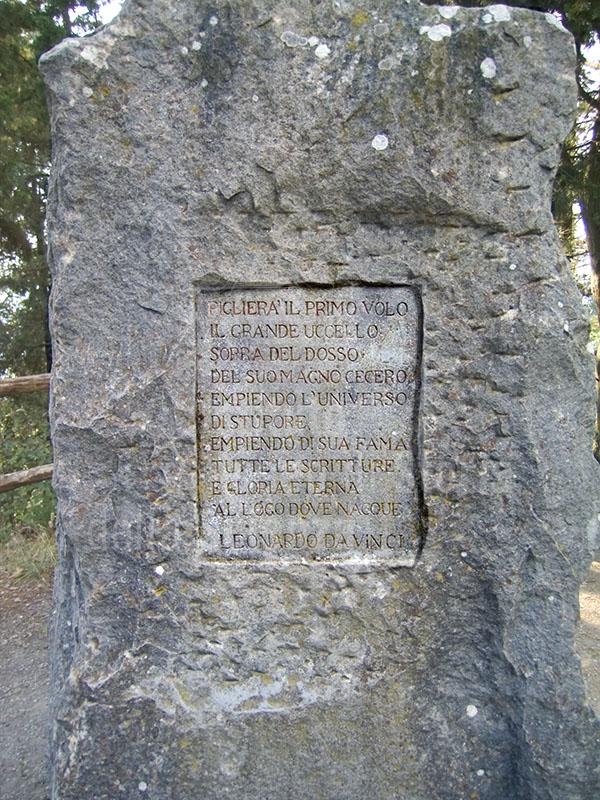 Iscrizione nel Parco di Montececeri, Fiesole.