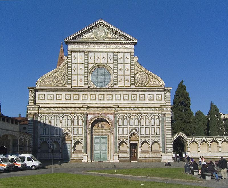 La facciata della Basilica di Santa Maria Novella, Firenze.