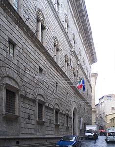 L'esterno dell'Archivio di Stato di Siena.