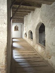 Gradinata interna della Grancia di Cuna, Monteroni d'Arbia.
