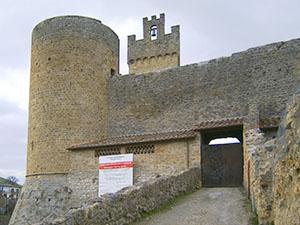 L'ingresso del Castello di Staggia, Poggibonsi.