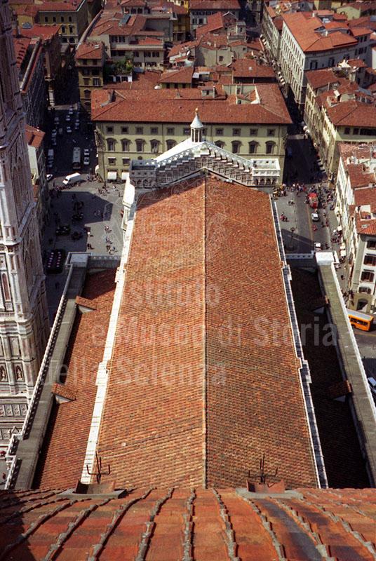 Il Duomo di S. Maria del Fiore visto dalla Cupola del Brunelleschi, Firenze.