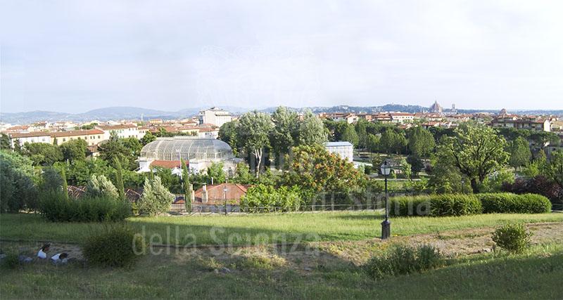 Veduta del Giardino dell'Orticultura dagli Orti del Parnaso, Firenze.